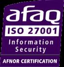 Logo AFAQ ISO 27001